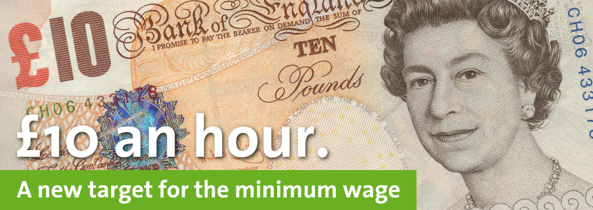 End working poverty by increasing the minimum wage to £10 an hour